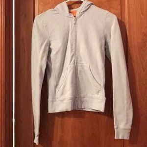 Juicy Couture powder blue Zip up w/ back detail